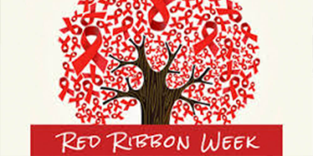 red ribbon tree